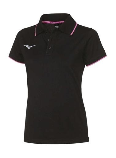 Mizuno  Polo Kadın T-Shirt Siyah Siyah